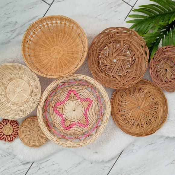 Pink Boho Basket wall lot